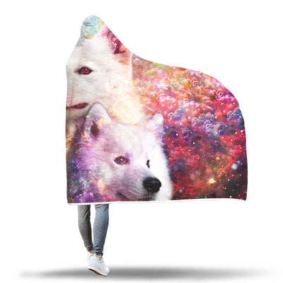 Samoyed Hooded Blanket