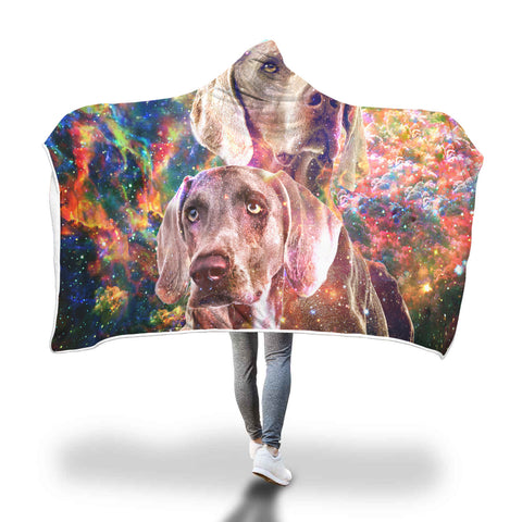 Weimaraner Hooded Blanket