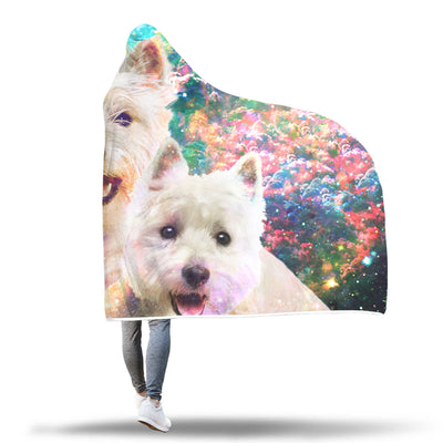West Highland White Terrier Hooded Blanket