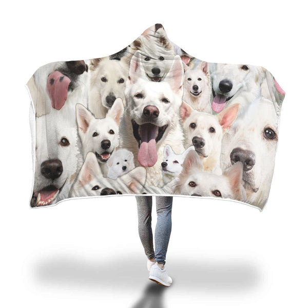 Berger Blanc Suisse Hooded Blanket