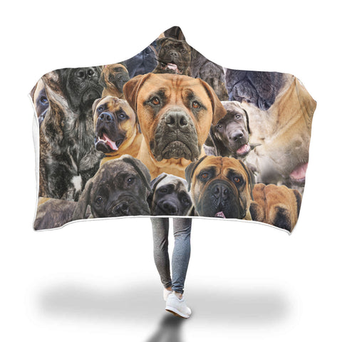 Bullmastiff Hooded Blanket