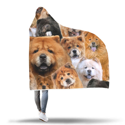 Chow Chow Hooded Blanket