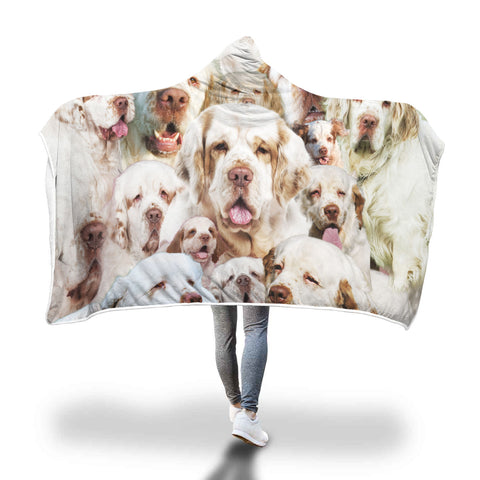 Clumber Spaniel Hooded Blanket