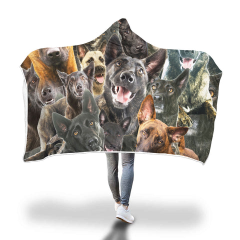Dutch Shepherd Hooded Blanket