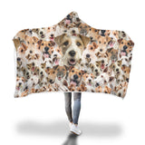 Fox Terrier Hooded Blanket
