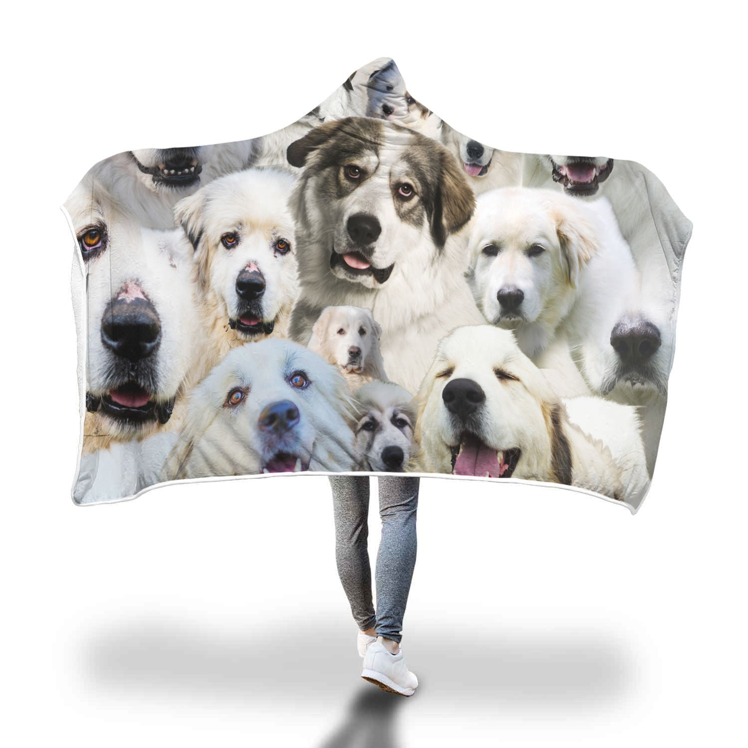 Great Pyrenees Hooded Blanket