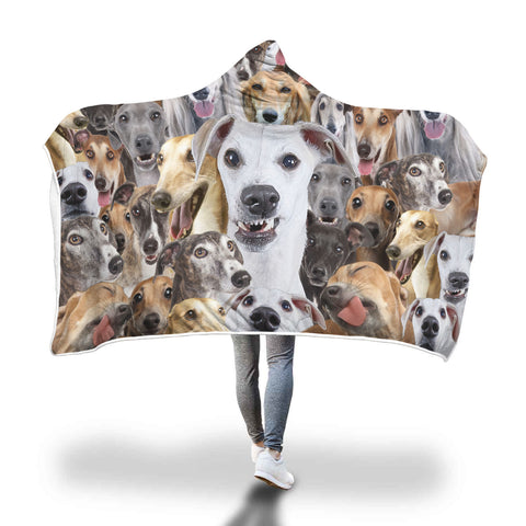 Greyhound Hooded Blanket