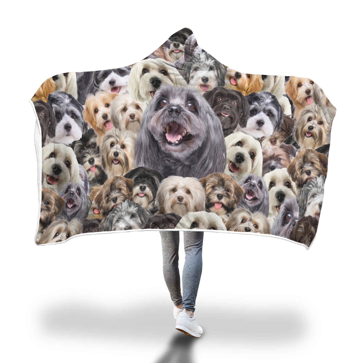 Havanese Hooded Blanket
