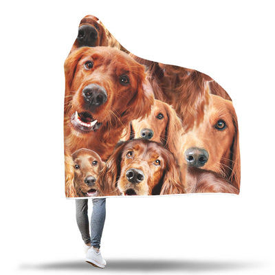 Irish Setter Hooded Blanket