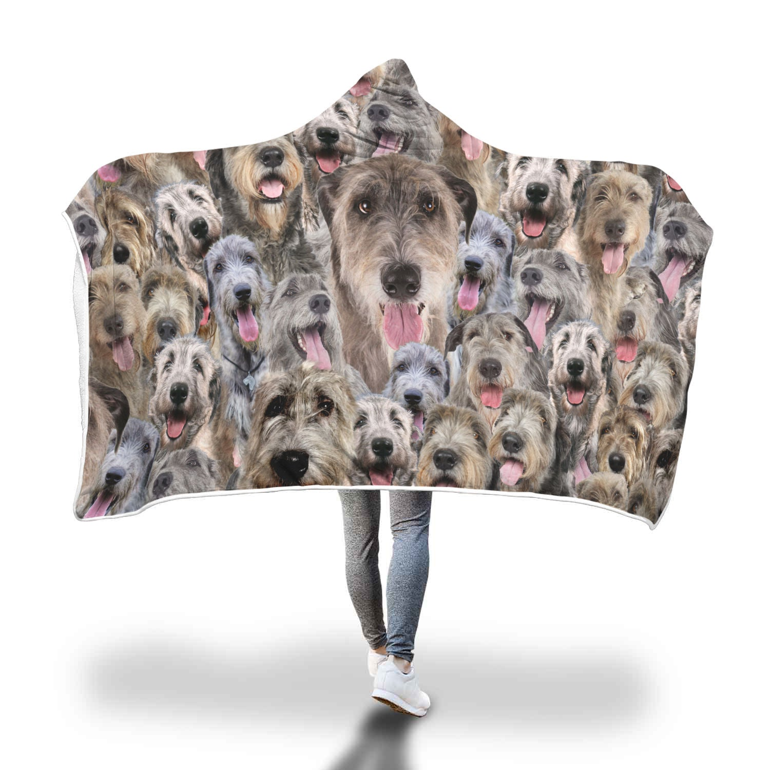 Irish Wolfhound Hooded Blanket
