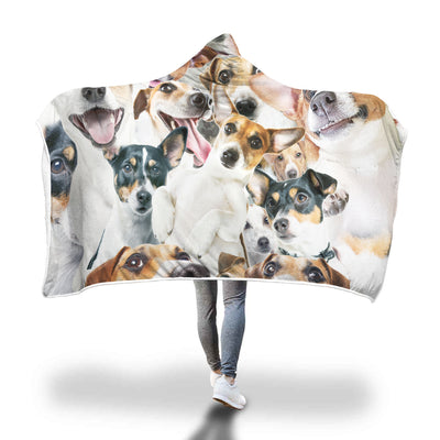 Jack Russell Terrier Hooded Blanket