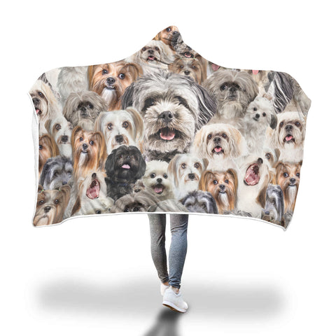 Lhasa Apso Hooded Blanket