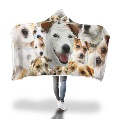 Parson Russell Terrier Hooded Blanket