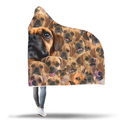 Puggle Hooded Blanket