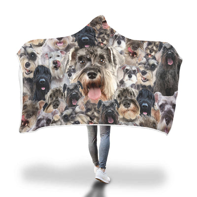 Schnauzer Hooded Blanket