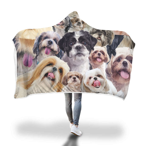Shih Tzu Hooded Blanket