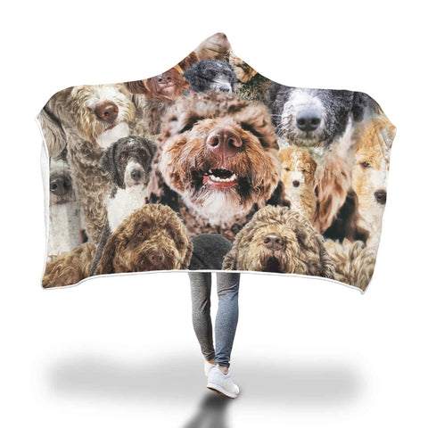 Spanish Water Dog Hooded Blanket