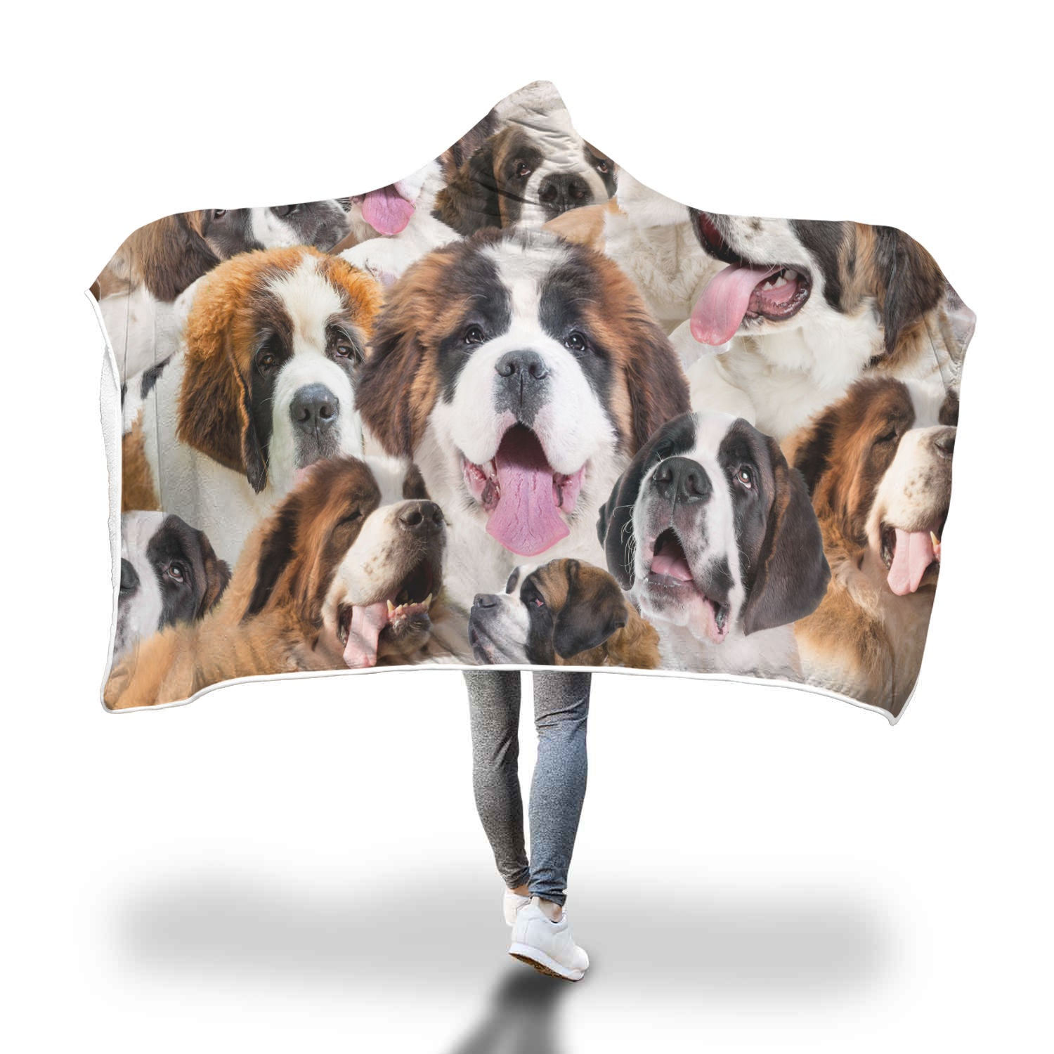 St. Bernard Hooded Blanket