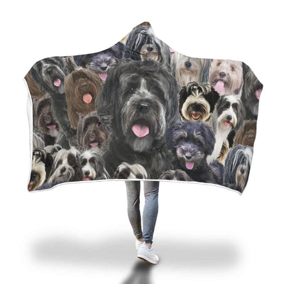 Tibetan Terrier Hooded Blanket