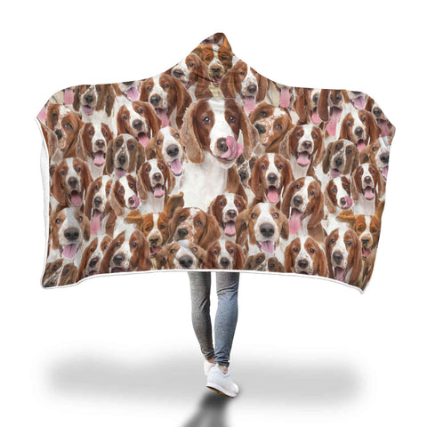 Welsh Springer Spaniel Hooded Blanket