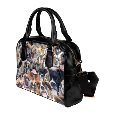 Boxer Face Shoulder Handbag