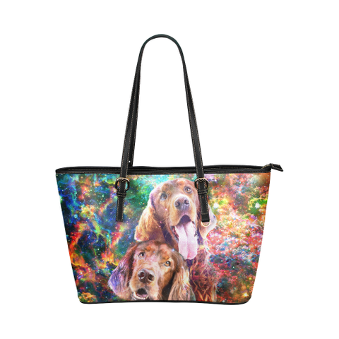 Irish Setter Leather Tote Bag