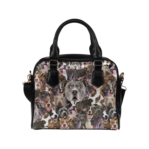 American Staffordshire Terrier Face Shoulder Handbag