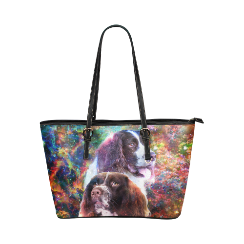 English Springer Spaniel Leather Tote Bag