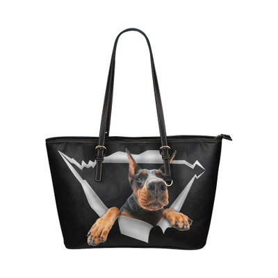 Doberman Leather Tote Bag