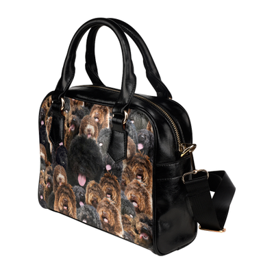 Barbet Face Shoulder Handbag