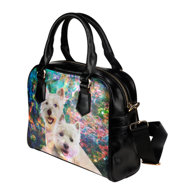 West Highland White Terrier Yin Yang Shoulder Handbag