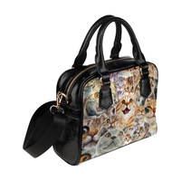 Cats Face Shoulder Handbag