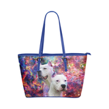 Dogo Argentino Leather Tote Bag
