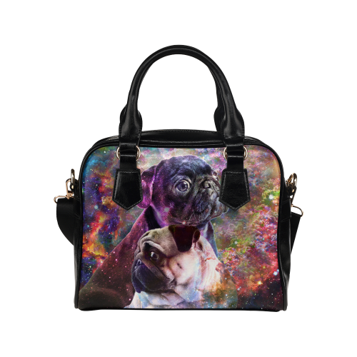 Pug Yin Yang Shoulder Handbag