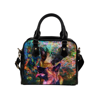 German Shepherd Yin Yang Shoulder Handbag