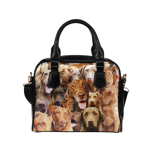 Chesapeake Bay Retriever Face Shoulder Handbag