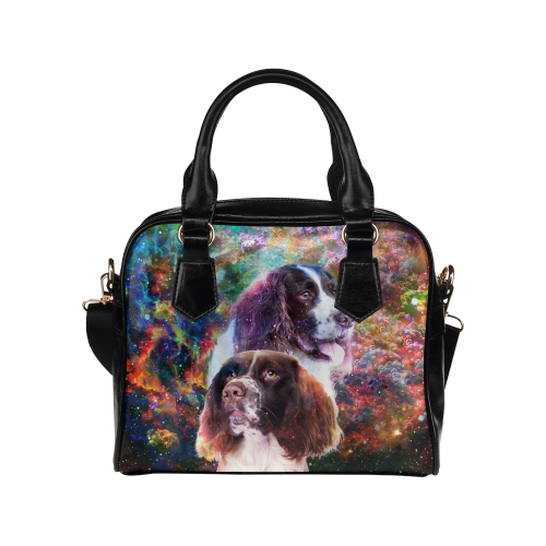 English Springer Spaniel Yin Yang Shoulder Handbag