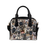 Schnauzer Face Shoulder Handbag