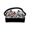 Siberian Husky Face Shoulder Handbag