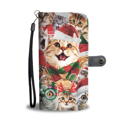 Christmas Cat Wallet Case