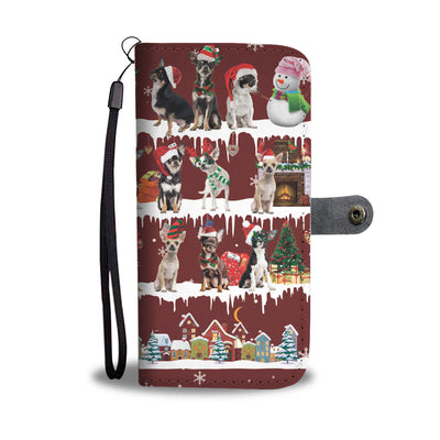 Chihuahua Snow Christmas Wallet Case