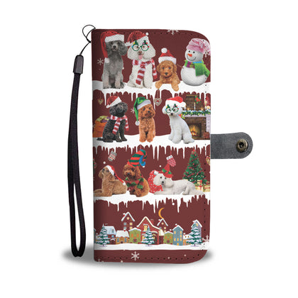 Poodle Snow Christmas Wallet Case