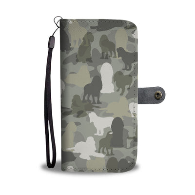 Cocker Spaniel Camo Wallet Case