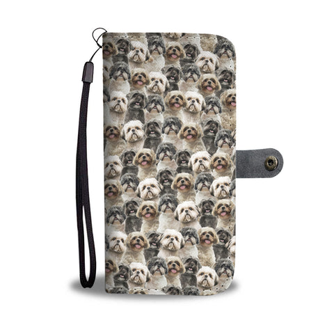 Shih Tzu Full Face Wallet Case