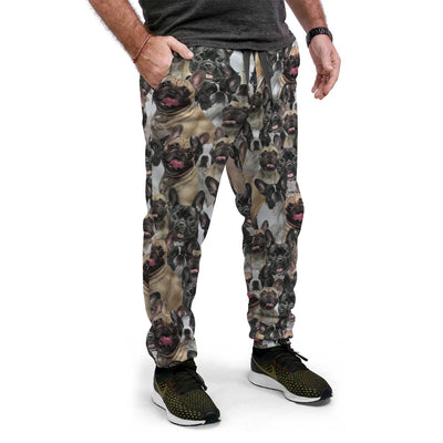 French Bulldog Full Face Joggers