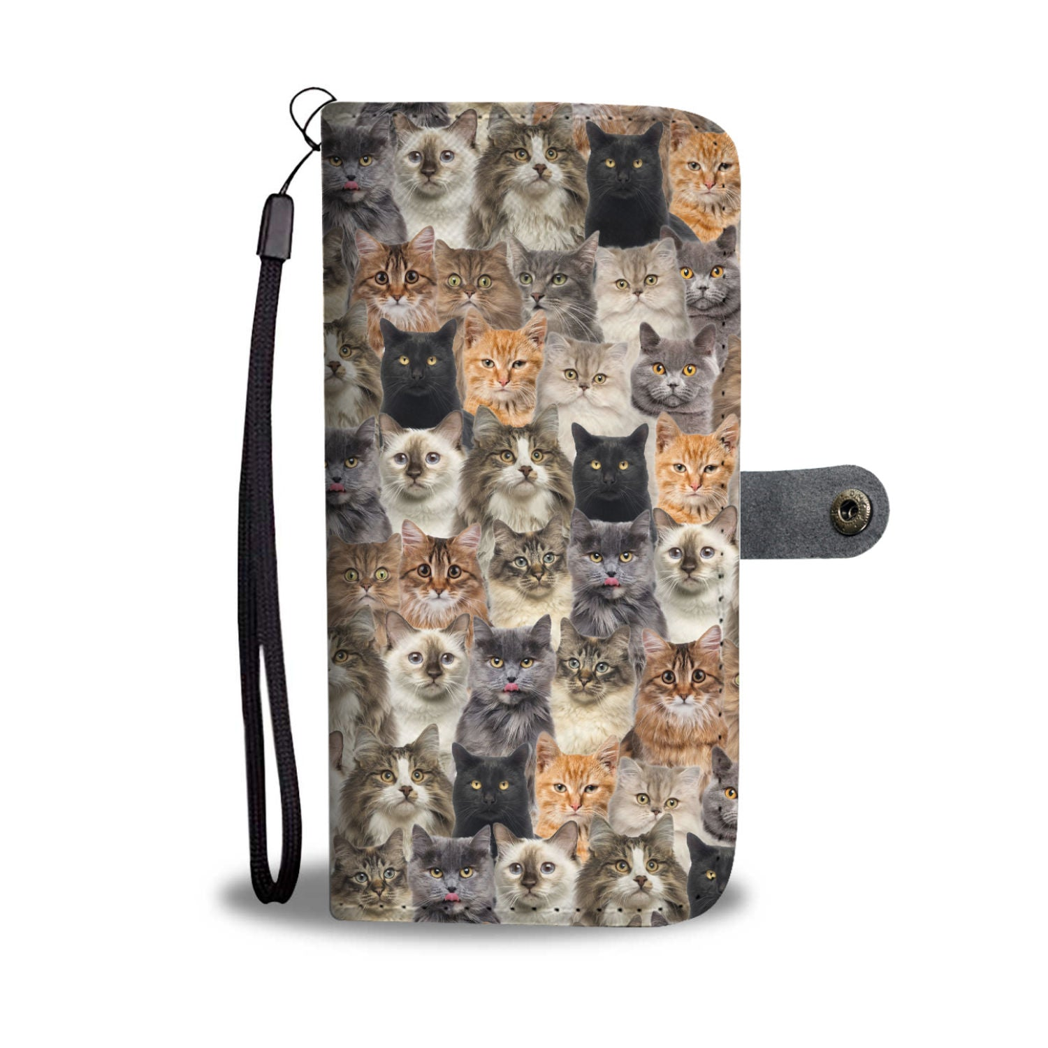 Cat Full Face Wallet Case