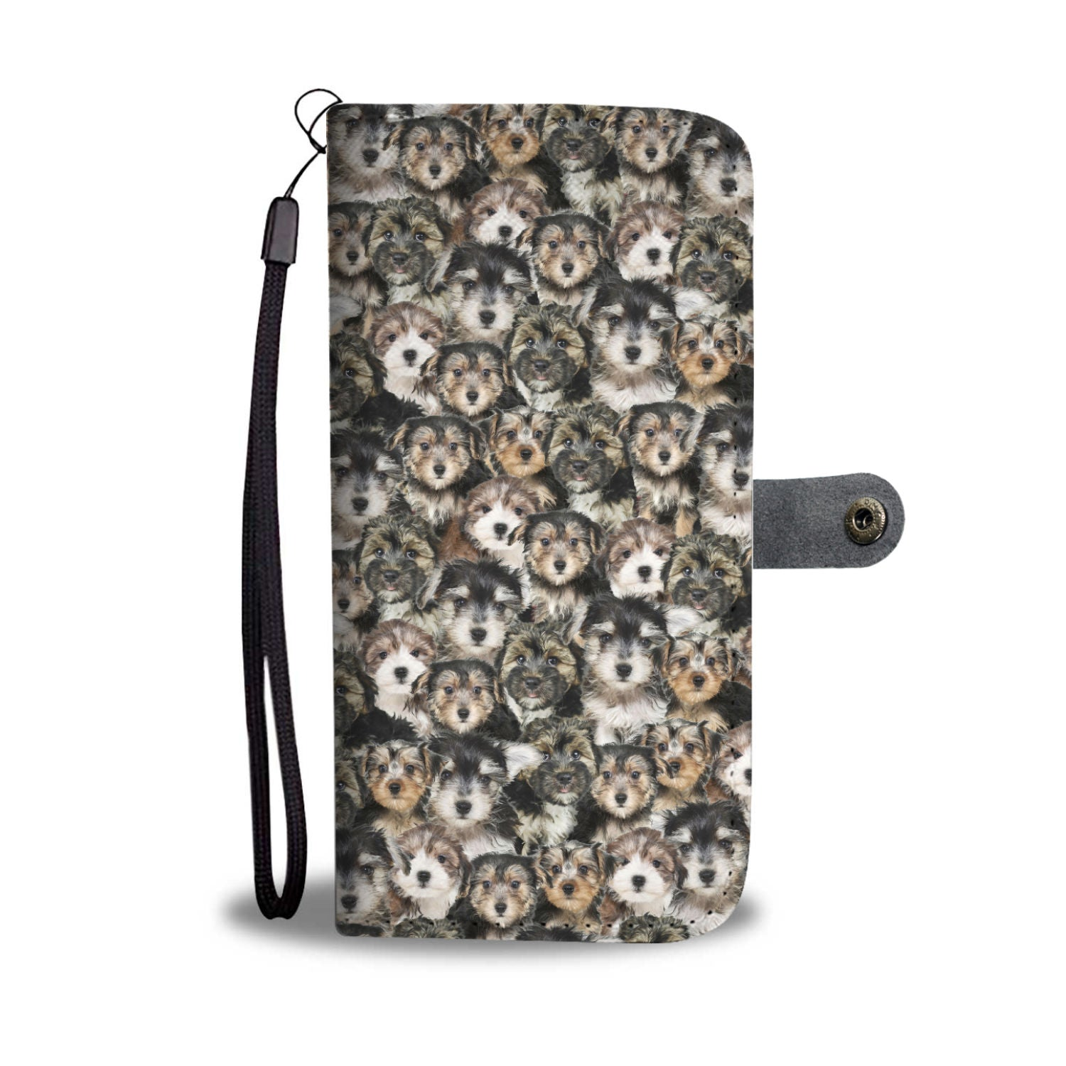 Morkie Full Face Wallet Case