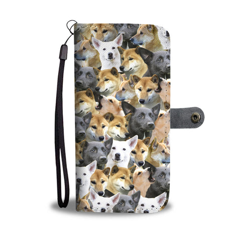 Canaan Dog Full Face Wallet Case