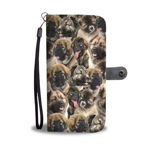Caucasian Shepherd Dog Full Face Wallet Case
