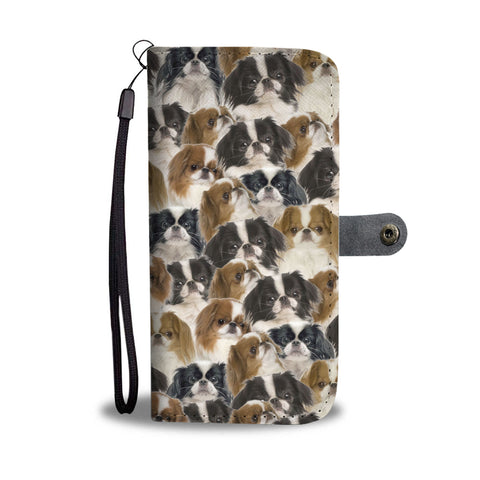 Japanese Chin Full Face Wallet Case